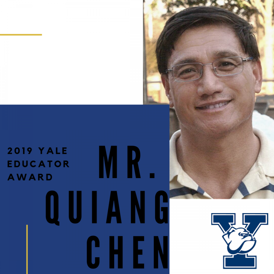 Mr. Chen Recieves 2019 Yale Educator Award