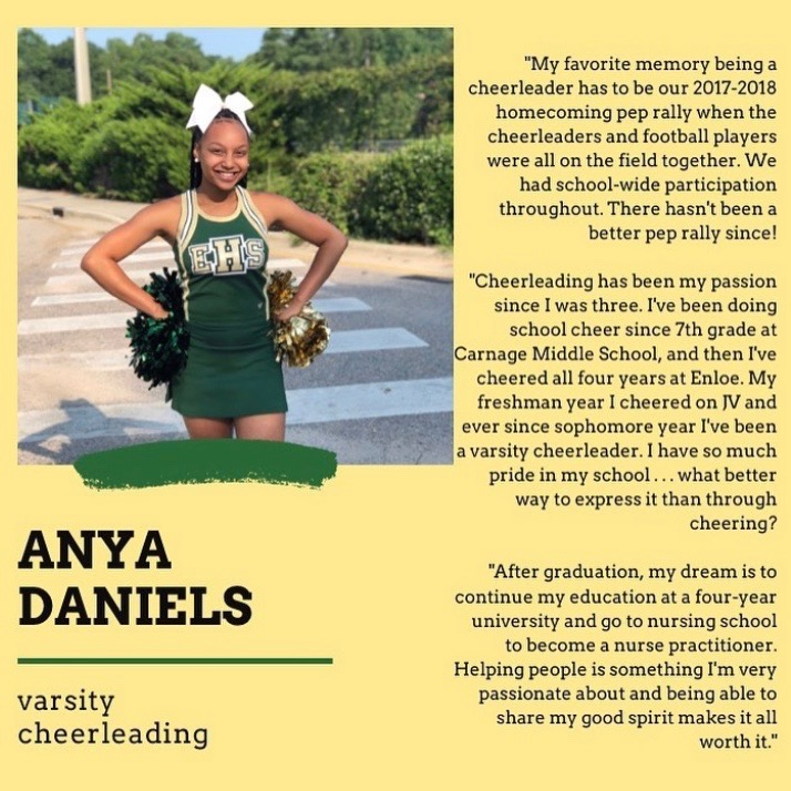Senior Spotlight: Anya Daniels