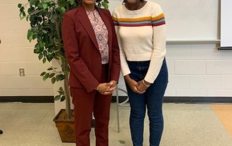Guest Speaker Dr. Kimberly Bethea (left) and BSU President Laila Dancy (right).
