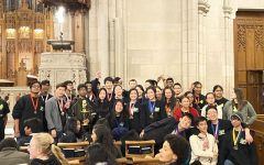 Enloe Varsity Science Olympiad poses for a team picture after winning 1st overall at the 2020 Duke Invitational.