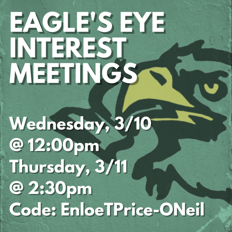 Interested in Joining the Eagle's Eye Staff?