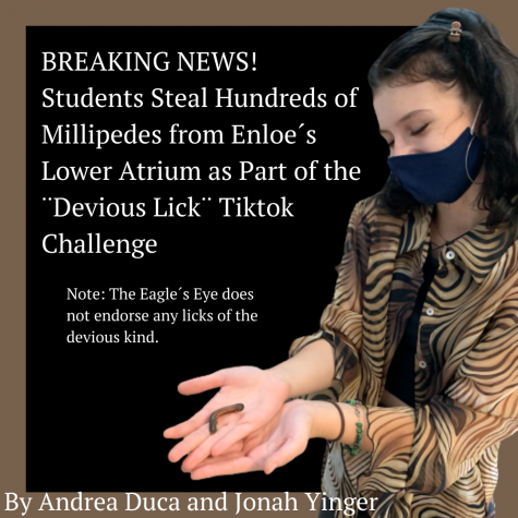 Students Steal Hundreds of Millipedes from Enloe´s Lower Atrium as Part of the ¨Devious Lick¨ TikTok Challenge