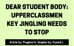 A Letter to the Student Body: Upperclassmen Key Jingling Needs to Stop